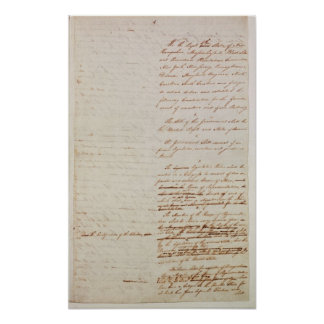 First draft of the Constitution of the U.S. Poster