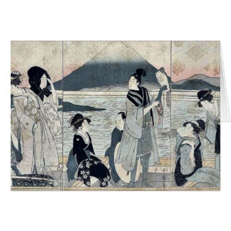 First dream by Kitagawa,Utamaro Card