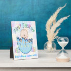 """First Easter Baby Boy Plaque With Easel 5""""x7"""""""