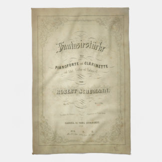 First Edition Vintage Sheet Music Cover Tea Towel
