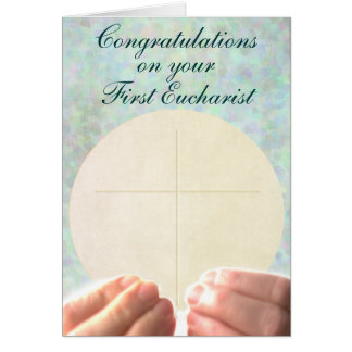 First Eucharist Card