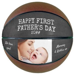 First Fathers Day Chalkboard Custom Photo Basketball