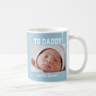 First Father's Day - Custom Photo/Year Coffee Mug
