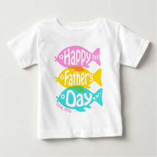First Fathers Day Shirt Baby Girl Fish Tee