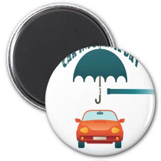 First February - Car Insurance Day 6 Cm Round Magnet