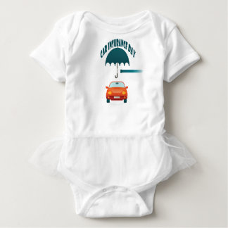First February - Car Insurance Day Baby Bodysuit