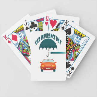 First February - Car Insurance Day Bicycle Playing Cards