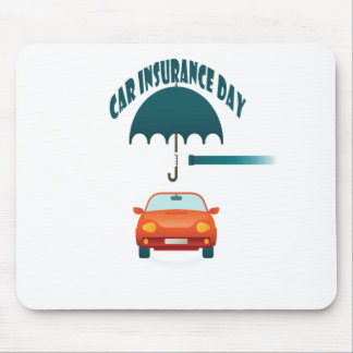 First February - Car Insurance Day Mouse Pad