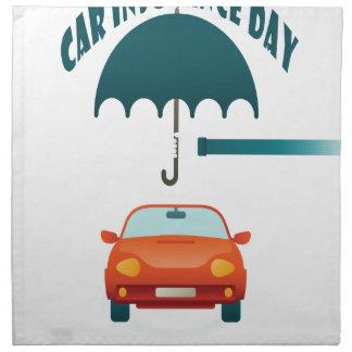 First February - Car Insurance Day Napkin