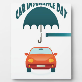 First February - Car Insurance Day Plaque