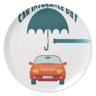 First February - Car Insurance Day Plate
