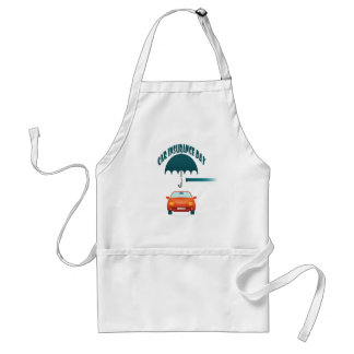 First February - Car Insurance Day Standard Apron