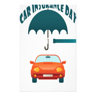 First February - Car Insurance Day Stationery
