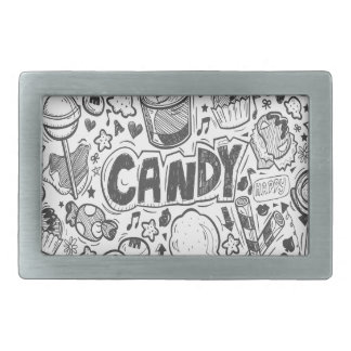 First February - Decorating With Candy Day Rectangular Belt Buckles