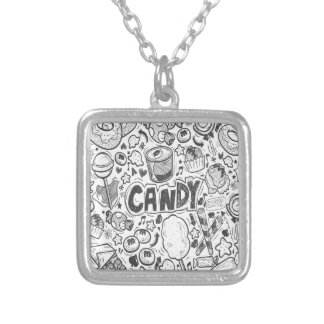 First February - Decorating With Candy Day Silver Plated Necklace