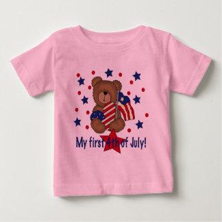 First Fourth of July Patriotic Bear Tshirts