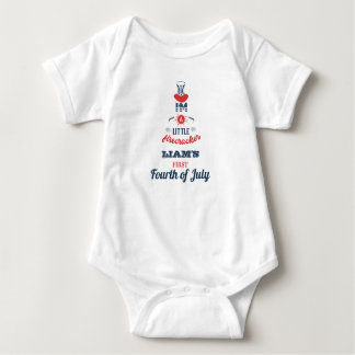 First Fourth of July, Personalized Baby Bodysuit