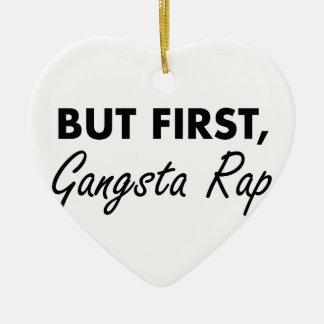 First Gangsta Rap Ceramic Heart Decoration