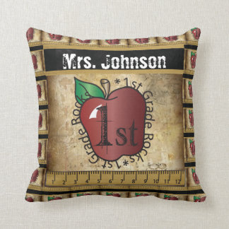 First Grade Rocks | Teacher Cushion