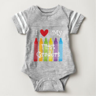 first grade teacher2 baby bodysuit