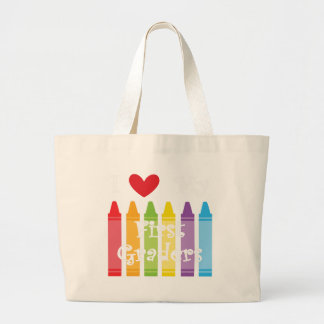 first grade teacher2 large tote bag