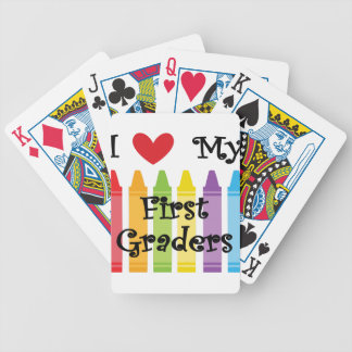 first grade teacher bicycle playing cards