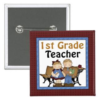 First Grade Teacher Button