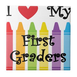 first grade teacher ceramic tile