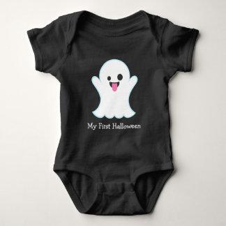 First Halloween Ghost Emoji Baby Bodysuit