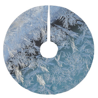 First Hard Frost Nature Abtract Photographic Art Brushed Polyester Tree Skirt