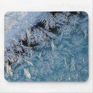 First Hard Frost Nature Abtract Photographic Art Mouse Pad