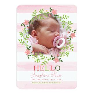 First Hello Photo Birth Announcement