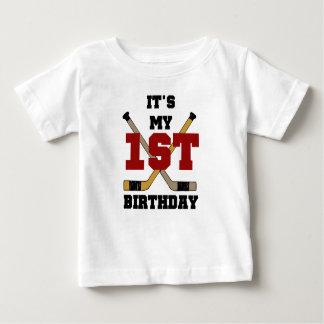First Hockey Birthday Baby T-Shirt