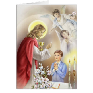 First Holy Communion boy Card