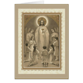 First Holy Communion Card w/prayer & verse