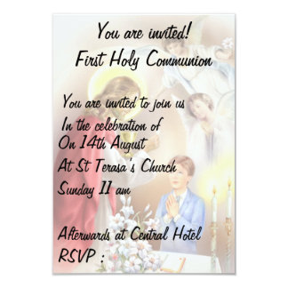 First Holy Communion, confirmation  boy Invite