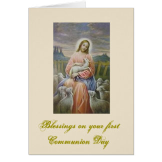 First Holy Communion for boy and girl Card