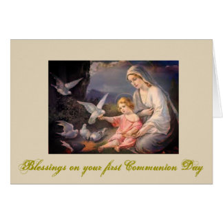 First Holy Communion for girl and boy Card