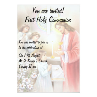 First Holy Communion girl invitation