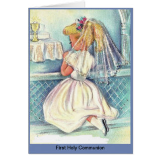 First Holy Communion Girls Card