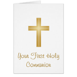 First Holy Communion/Gold Cross Card