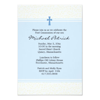 "First Holy Communion Invitation 5"" X 7"" Invitation Card"