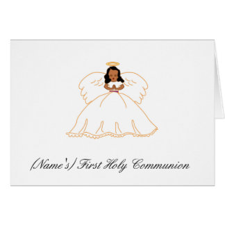 First Holy Communion Invitation Greeting Card