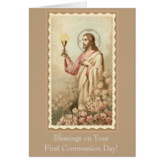 First Holy Communion Jesus Chalice Card