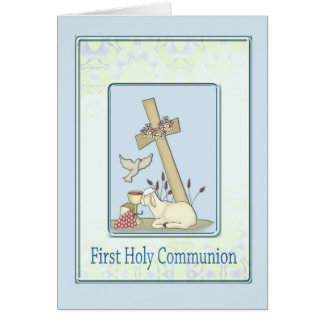 First Holy Communion Lamb Card