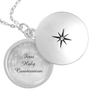 First Holy Communion Locket Necklace