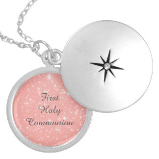 First Holy Communion Silver Plated Necklace