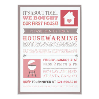 First House Cookout Housewarming Invite - Simple M