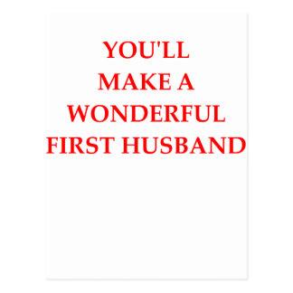 first husband postcard
