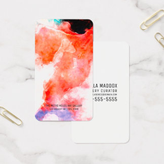 First Impressionist Modern Watercolor Business Car Business Card